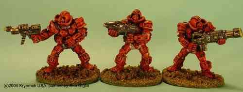 Cobra Marines IV (c.rifle, flame, Chain Gun)
